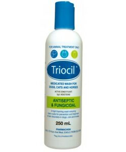 Triocil Medicated Wash 250ml For Dogs, Cats & Horses