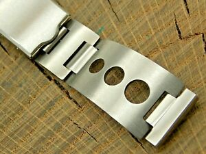 NOS Vintage Unused Stainless Steel Deployment Watch Band 16mm Mens Bracelet
