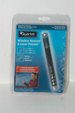 QUARTET 84502 Wireless Remote/Laser Pointer,655ft.,Blk G6146290