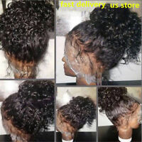 USA Pre Plucked virgin Human Hair Full Lace Wig curly Lace Front Wigs Hot wigs