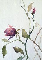 Aquarell Rosen abstrakt original Malerei Blumen Bilder Unikat floral Lynovskaja
