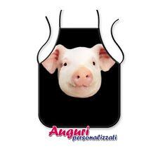 Grembiule da cucina con maiale spiritoso e divertente regalo