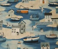 Sailors Rest BTY World Art Group P&B Textiles Buildings Fishing Village Boat