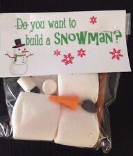 """Vigilia DI NATALE BOX """"si desidera creare un pupazzo di neve"""" Pupazzo di Neve Fai da te KIT HAND MADE Commestibile"""