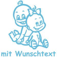GESCHWISTERAUFKLEBER Babyaufkleber Kinder-Aufkleber Autoaufkleber Name G4-JM