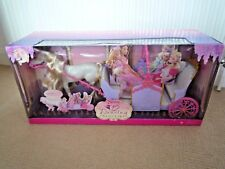 MATTEL BARBIE 12 DANCING PRINCESS'S / EXTENDABLE CARRIAGE WITH HORSE / SEALED I