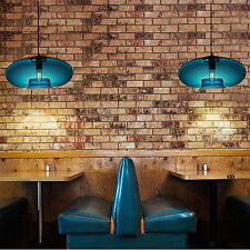 Ceiling Hanging Blue Glass Pendant Lamp Modern Bubble Design Light Fixture