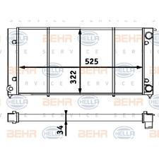 Kühler Motorkühlung - Hella 8MK 376 713-304