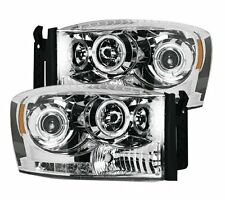 Recon 264199CL Projector Headlights; Clear, For 06-09 Dodge Ram