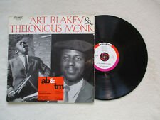 "LP 33T ART BLAKEY & THELONIOUS MONK ""Eponyme""  ATLANTIC 332 024 FRANCE §"