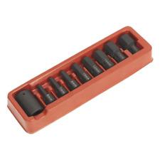 """AK5609 Sealey Impact Hex Bit & Holder Set 9pc 1/2""""Sq Drive [Impact Socket Sets]"""