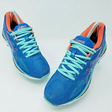 Asics Gel Nimbus 19 Womens Blue White Pink Athletic Training Shoes Size 8 T750N