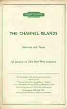 British Railways 1961 Handbill - The Channel Islands - Services & Fares