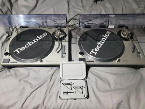 Technics SL-1200 mk2 silver x2