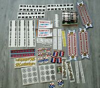 Beau lot d 'autocollants stickers ancien VELO CYCLISME BIKE BICYCLES OLD VINTAGE
