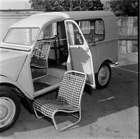 Citroen 2-CV Wagon 1956 model OLD CAR ROAD TEST PHOTO 7