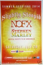 """Slightly Stoopid / Nofx """"Summer Sessions 2014"""" San Diego Concert Tour Poster"""