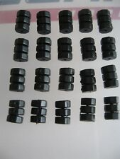 20 x BLACK CABLE DONUTS / O'RINGS for cycle Inner Brake Wire  **NEW**