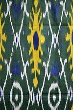 Summer SaIe!   IKAT  Stoff   Meterware Baumwolle Grün/Gelb Farbe Usbekistan