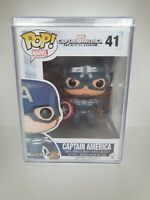 Captain America From Winter Soldier Funko Pop #41 With Hard Stack