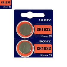 2 x SONY Lithium CR1632 batteries 3V Coin Cell DL1632 ERC1632 KRC1632 EXP:2025