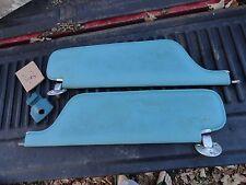 1968 Chevy Impala sun visor set - sunvisor blue windshield center keeper 4dr OEM
