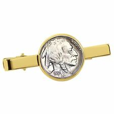 New Smithsonian Institution Buffalo Nickel Goldtone Coin Tie Clip 30200