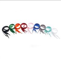 1M length various colors Flat Shoelaces Ribbon Satin Shoe Laces Sport Shoes  VV
