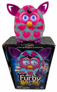 2012 Hasbro Furby Boom Blue & Pink Interactive Talking Pet Toy TESTED & WORKING