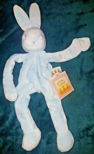 Bunnies By The Bay Bloom Bunny Silly Buddy' blue Comforter & Soother Saver BNWT
