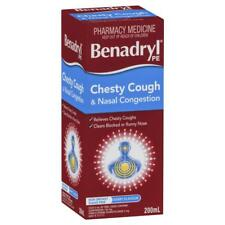BENADRYL PE CHESTY COUGH & NASAL CONGESTION 200ML RELIEF BERRY FLAVOUR