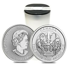 Roll of 14 - 2020 2 oz Canadian Creatures of the North The Kraken Silver Coin Bu