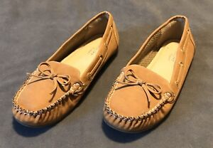 Cupcake Couture Dara Girls Light Brown Shoes Slip-On Flats Loafers Youth Size 4