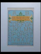 ENSEIGNES ART NOUVEAU, TYPOGRAPHIE -1905- LITHOGRAPHIE, BUREAUX, BORDERE