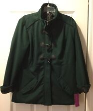 NWT RAMPAGE Womens Solid Green Coat Size Extra Large XL New!