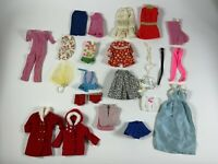Vintage Barbie Skipper Francie ? huge lot outfit clothes for dolls AS IS w/ wear