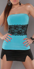 NEW SEXY WOMEN'S LACE TOP CASUAL EVENING CLUBBING SHIRT BLOUSE HOT 6 8 10 XS S M