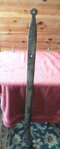 1 XL Wrought iron hinge strap barn door decor Vintage Antique hand wrought 50.5""