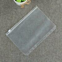 A5/A6 PVC Transparent Leaf Ring Binder Notebook Cover Weekly Diary Plann M4J1