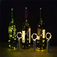 1/1.5/2M LED Xmas Cork Shape Wine Bottle Starry String Lights Party Christmas
