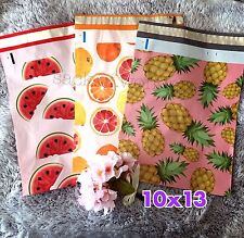 30 Designer Printed Poly Mailers 10X13 Shipping Envelopes Bags FRUITY MIX