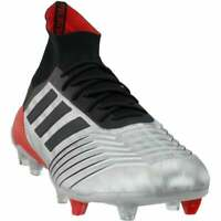 adidas Predator 19.1 Firm Ground  Casual Soccer  Cleats - Silver - Mens