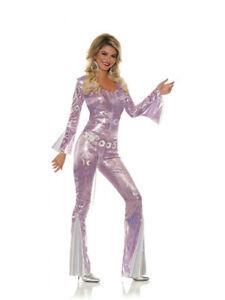 Women's Shakin' 70s Disco Diva Silver Swirl Costume Medium 8-10