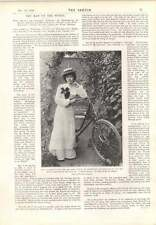 1901 Ms Haidee Wright Cycling Pose Model Dairy Mentmore