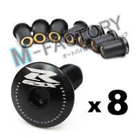 Black GSX-R Logo Windscreen Fairing bolts screws For Suzuki GSXR 600 750 Bandit