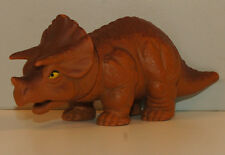"1988 Brown Baby Triceratops 5.5"" PVC Plastic Dinosaur Action Figure by Playskool"