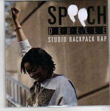 (CG895) Speech Debelle, Studio Backpack Rap - DJ CD