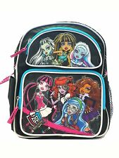 "Monster High Black, Blue, and Pink Backpack 12"" inches Backpack - Licensed Kids"