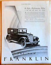 Vintage 1925 magazine ad for Franklin - Series 11, Car for the next ten years