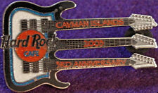 Hard Rock Cafe CAYMAN ISLANDS 2003 3rd Anniversary Triple Neck Guitar PIN #19951